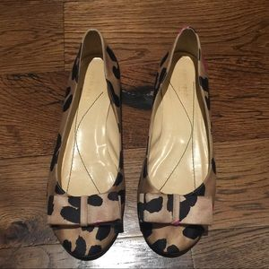 GUC Kate Spade Aeryn Pop silk flats 9 leopard 🐆